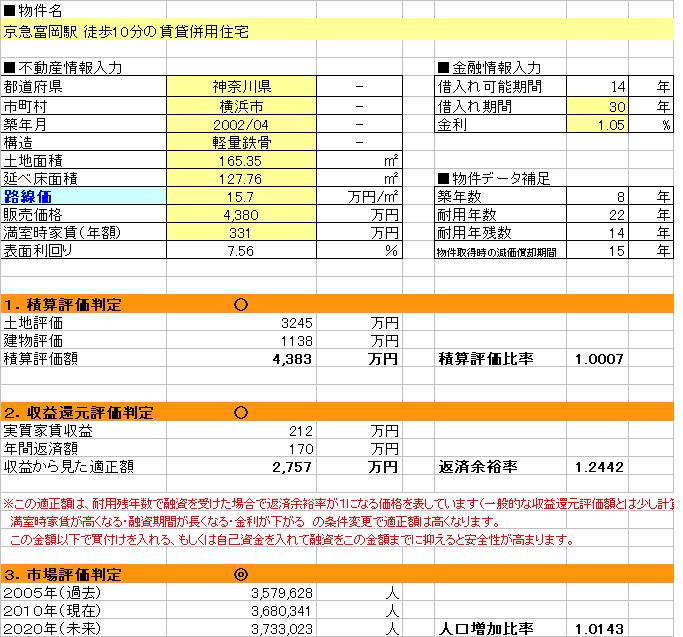 ●オススメ物件「京急富岡駅 徒歩10分の賃貸併用住宅」